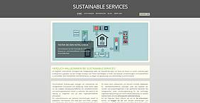Sustainable Services Webdesign