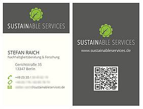 Sustainable Services Visitenkarten